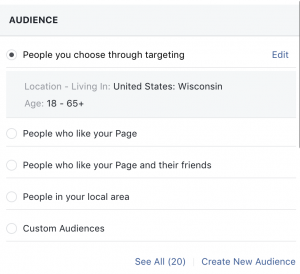 Facebook boosting audience