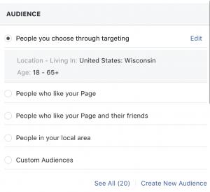 Facebook boosting audience