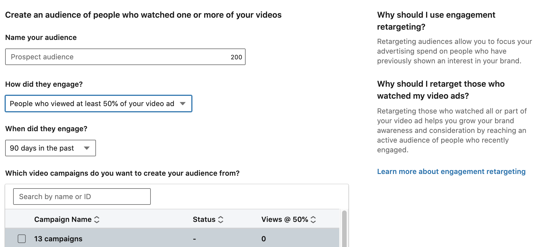 re-engaging on linkedin with video views