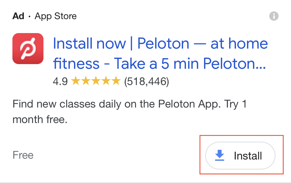 Google Ads App Extensions