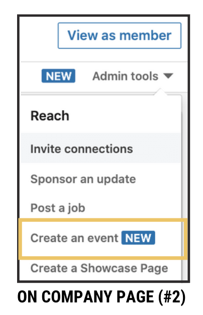 LinkedIn Events from Company Page