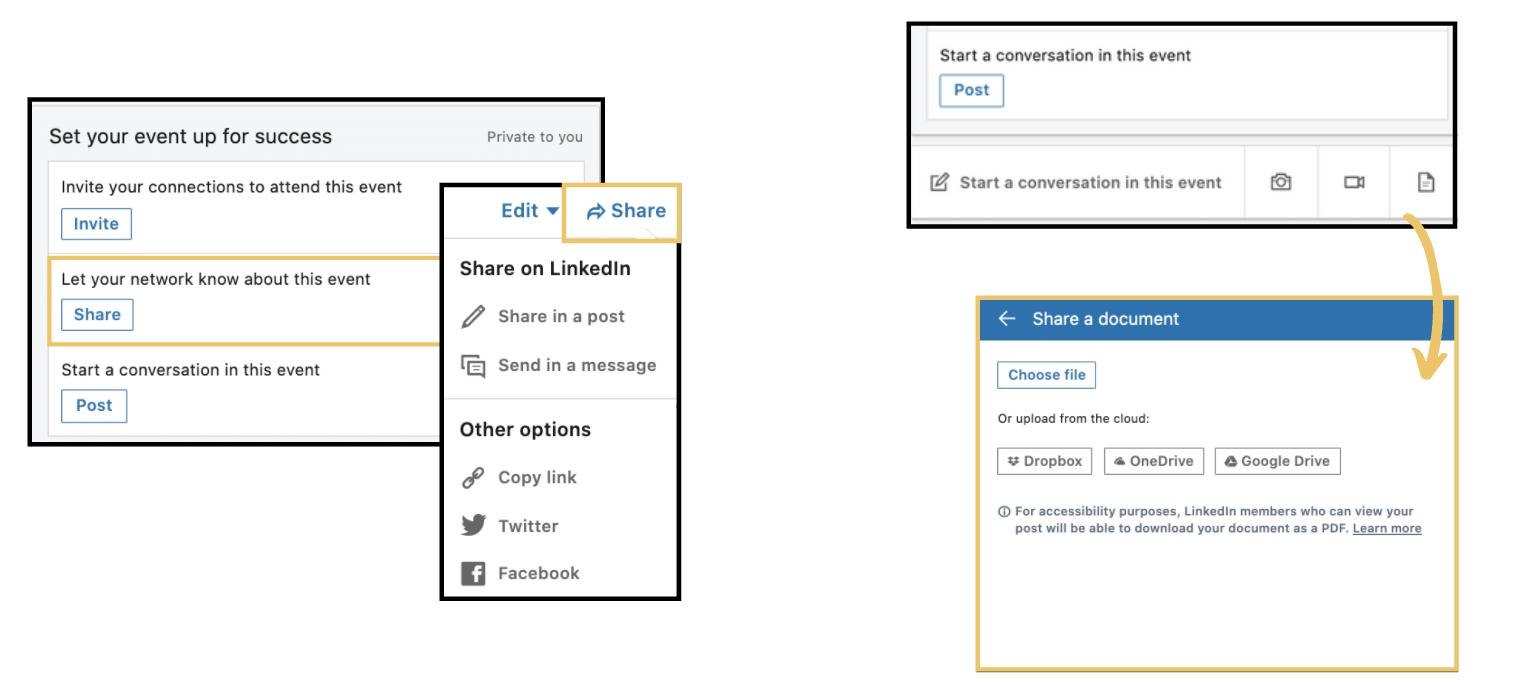 LinkedIn Event Form